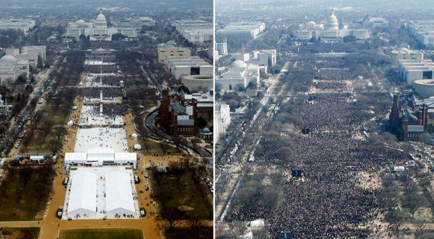 Trump Obama attendance compare