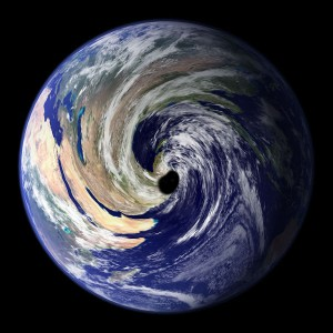 Our last mistake an earth eating black hole