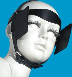 people with blinders on