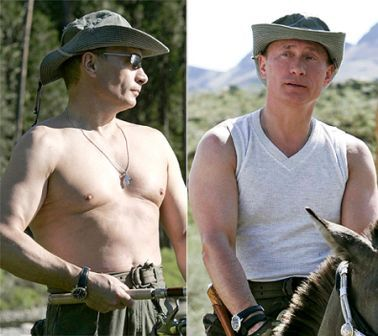 Putin Macho look