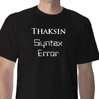 thaksin syntax error